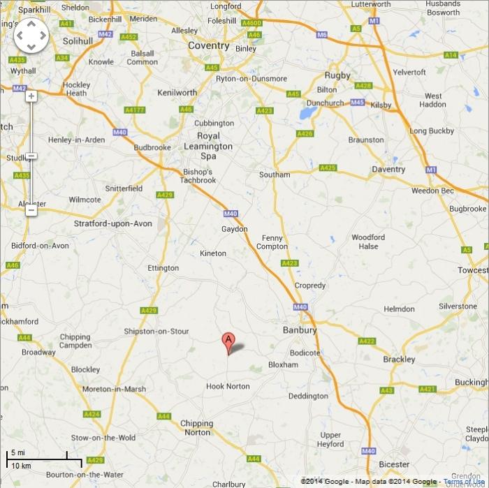 Four Shires Vets - Catchement Area